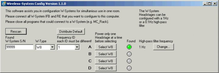 Wireless-System Config screenshot