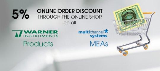 5% online discount Warner MEA
